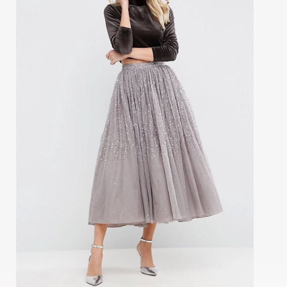 bc5037d04046 NWT! asos prom party tulle skirt w embellishment 2